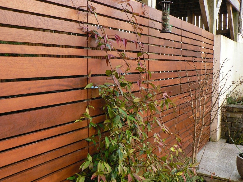 Contemporary Town Garden - Carport Screen Trellis - Greenspace Garden Design