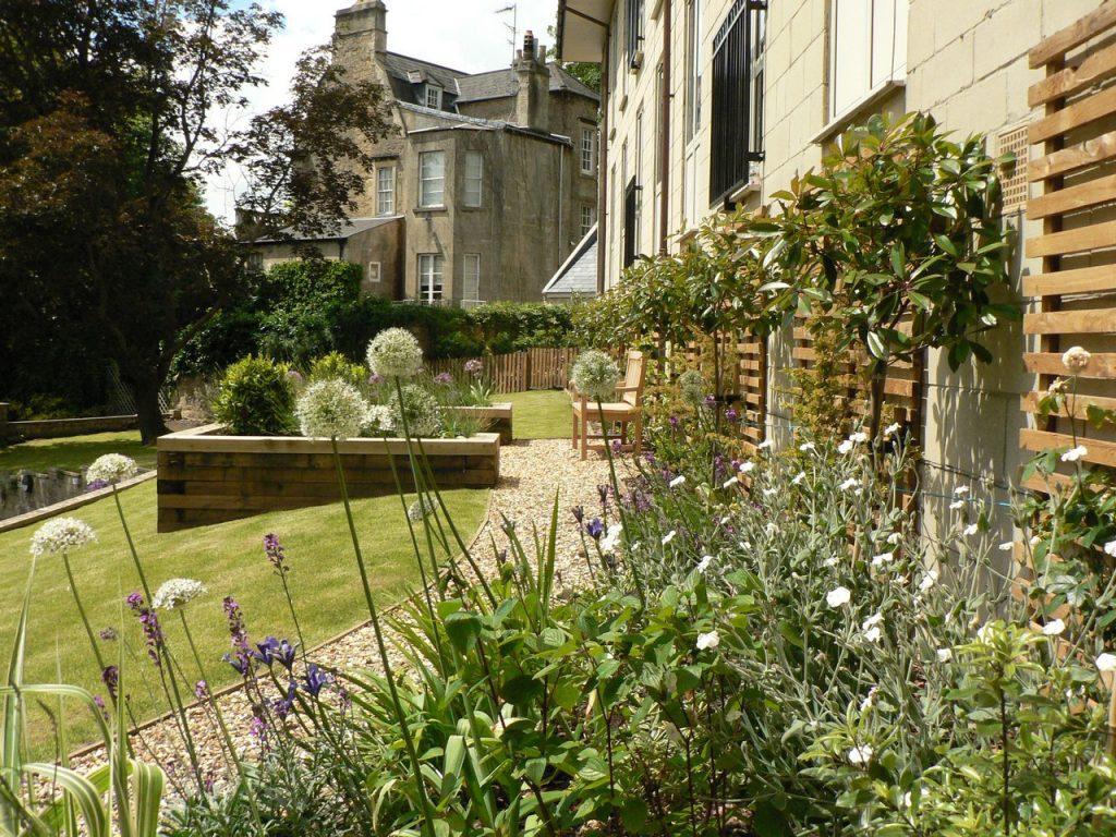 View of City Apartments garden - Greenspace Garden Design