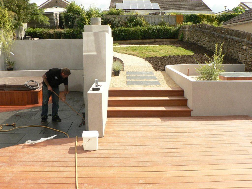Greenspace Garden Design - Split Level Contemporary Garden - During the works