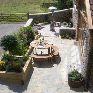 Small Barn Courtyard Garden