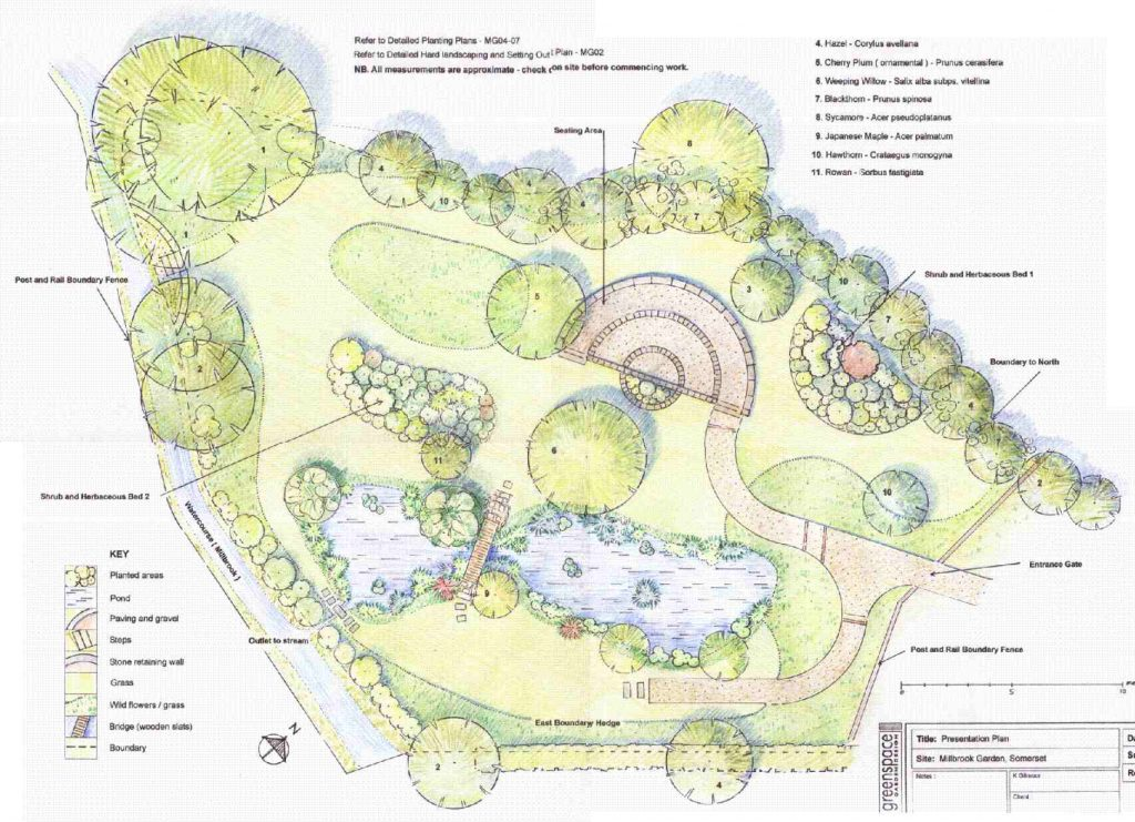 Greenspace Garden Design - Wildlife garden plan