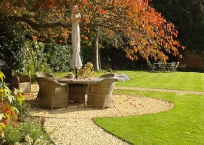 Greenspace Garden Design - Large Country Garden - Circular Seating Area