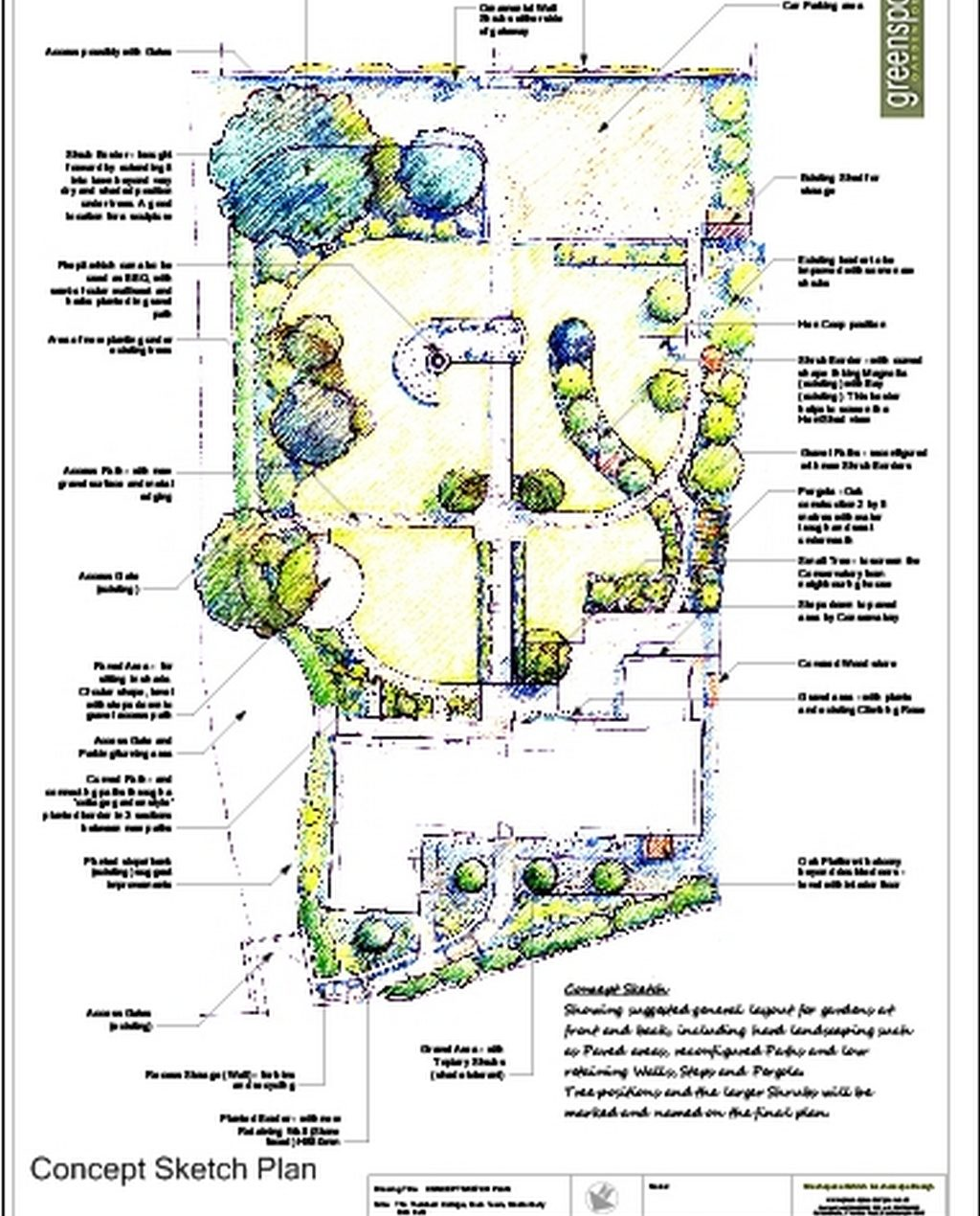 Greenspace Garden Design - Large Country Garden - Plan