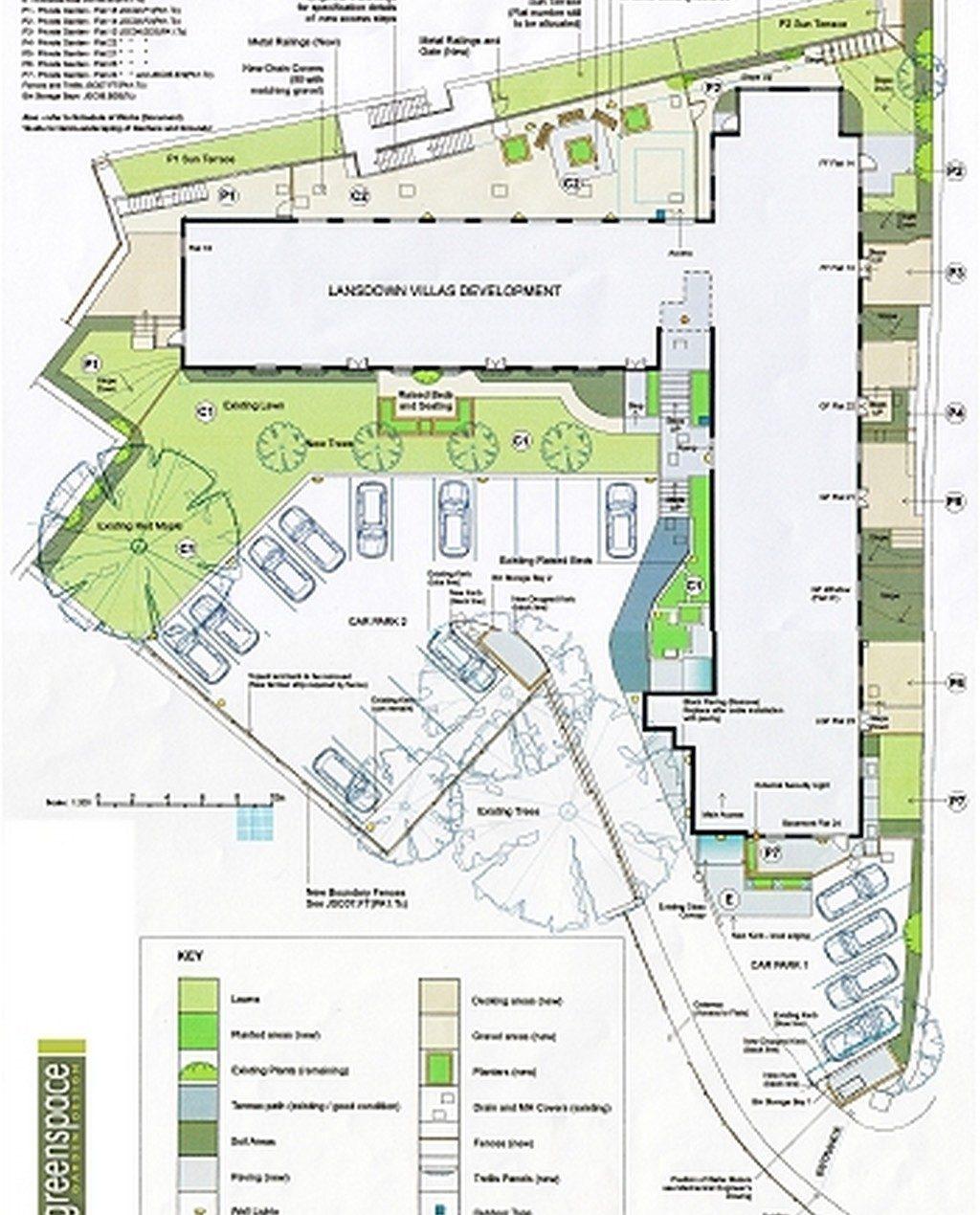 City Apartment Gardens plan - Greenspace Garden Design