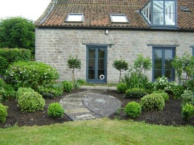 Country Garden Planting Design - Symetrical Shrub Scheme - Greenspace Garden Design