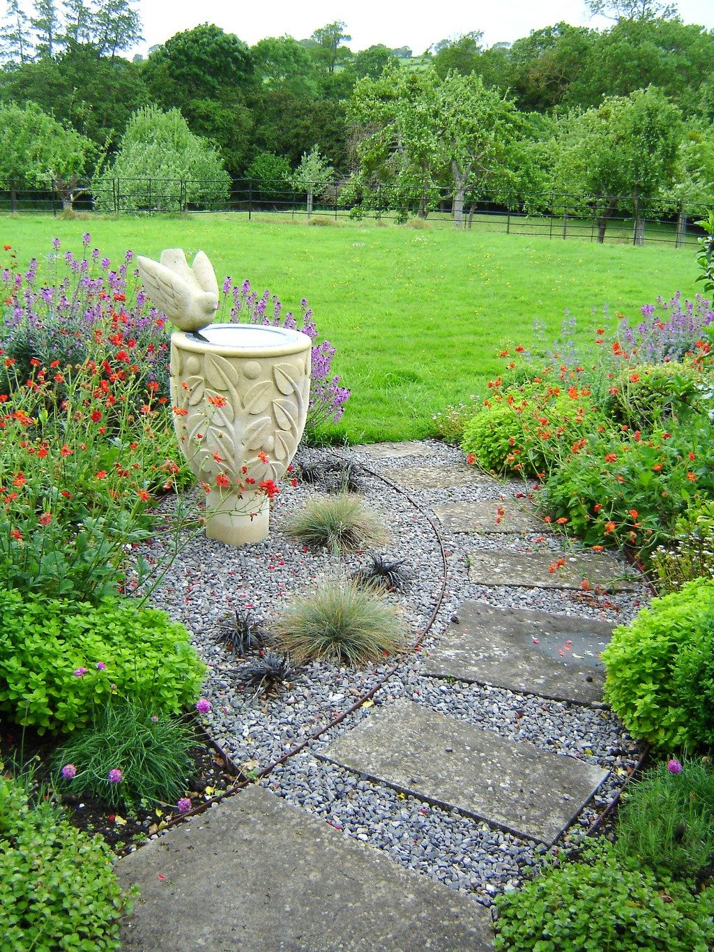 Country Garden Planting Design - View of country garden planting - Greenspace Garden Design