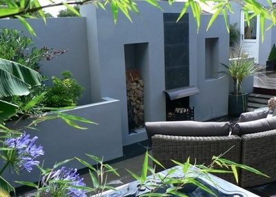 Greenspace Garden Design - Contemporary Split Level Garden - View from the hot tub